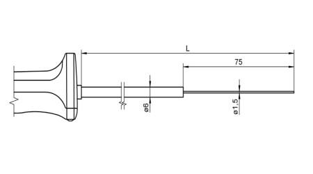 NiCr-Ni Sensor with Handle FTA125L0x00H
