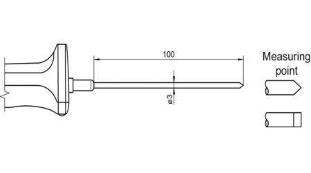 NTC Sensor with Handle FNA123L0100H