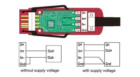 ZED70xFS DC Voltage Differential Digital Almemo D7 Measuring Connector