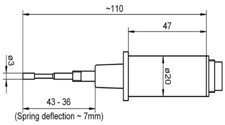 Insertable Sensor NiCr-Ni with Round Mounting Plug