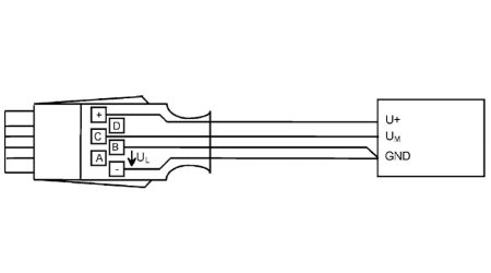 ALMEMO® Connector for DC Voltage Difference Millivolts/Volt
