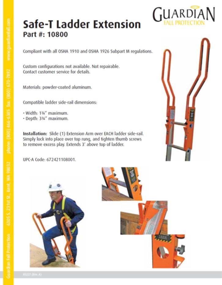 Dimensions Fixed Osha Ladder