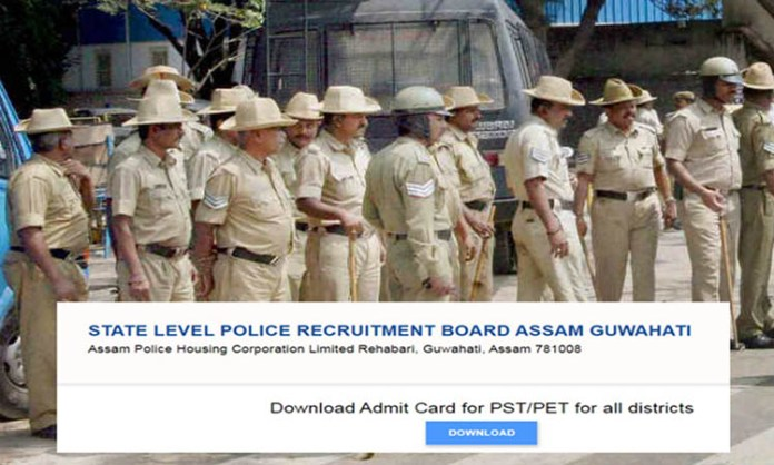 SLPRB Assam Police Admit Card 2021 to be Download Today for 15 District on slprbassam.in-Direct Link right here