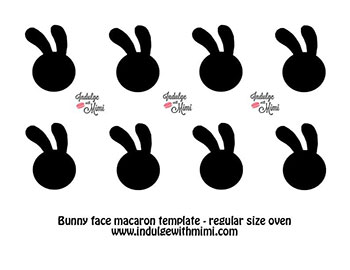 Lavender Earl Grey Easter Bunny Macarons with Template