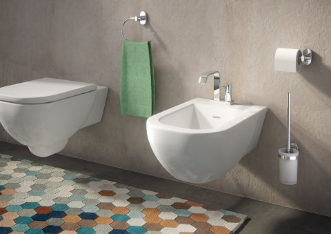 accessoires de salle de bains porte