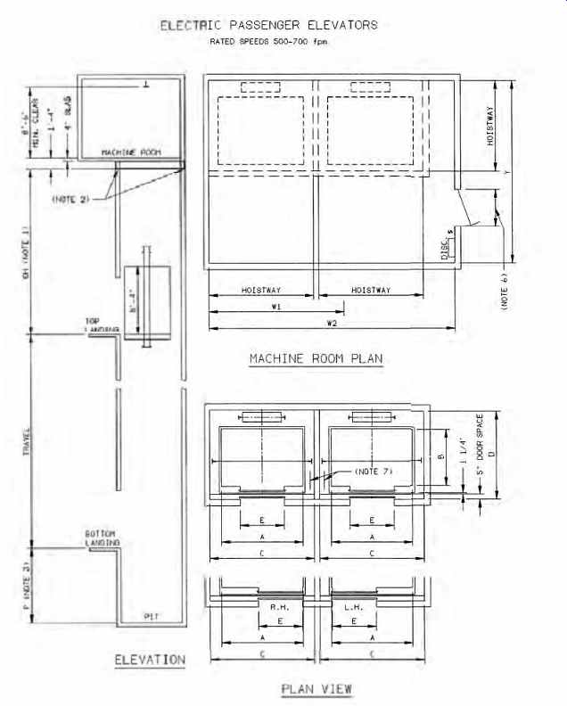 Mechanical / electrical equipment for buildings: Vertical