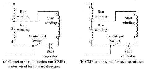 Electrical Diagram For A CSIR Motor