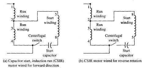 wiring diagram dayton reversible motor cb radio microphone split phase schematic current relay operation single ac 13
