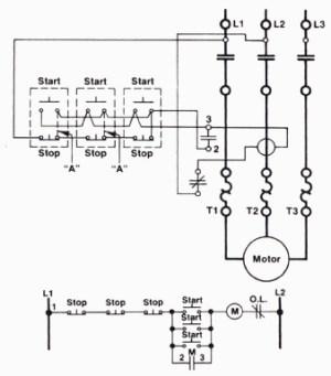 A ThreeWire StartStop Circuit with Multiple StartStop