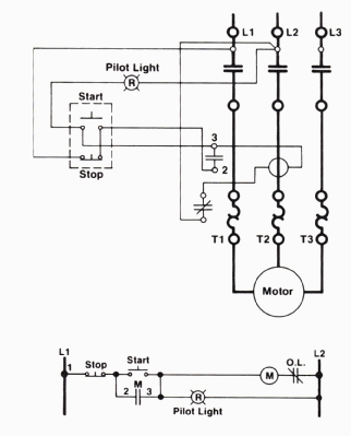 Three-Wire Control Circuit with Indicator Lamp