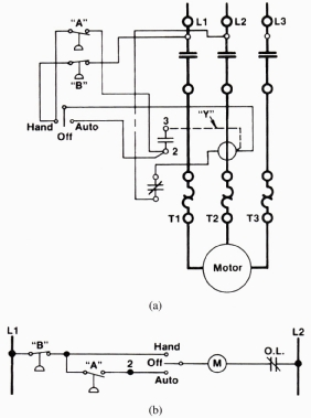 Reverse Motor Wiring Diagram On Hand Off Auto Wiring