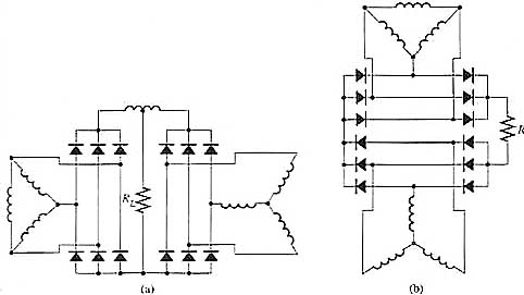 Six-Phase Full-Wave Bridge Circuits