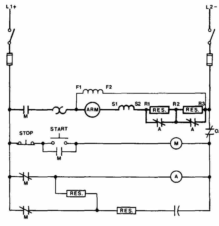 Drafting for Electronics--MOTORS AND CONTROL CIRCUITS