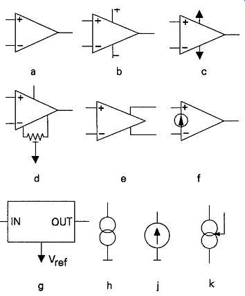Electronic component symbols and circuit drawing