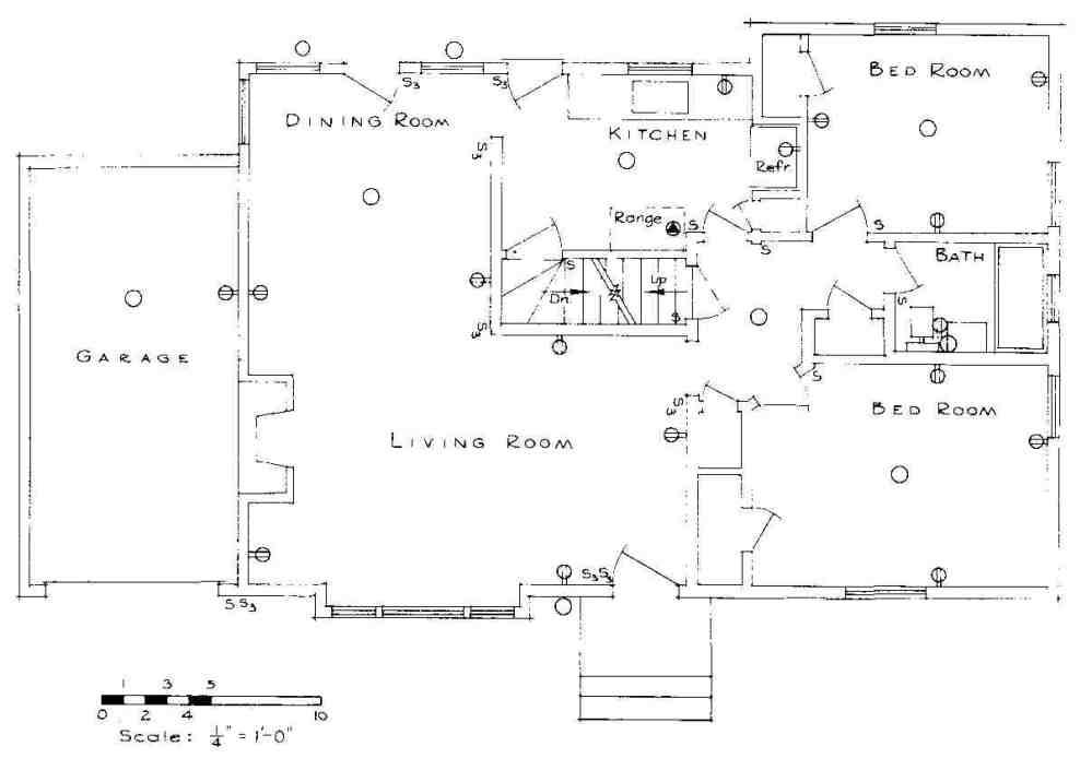 medium resolution of floor plan of first story of residence