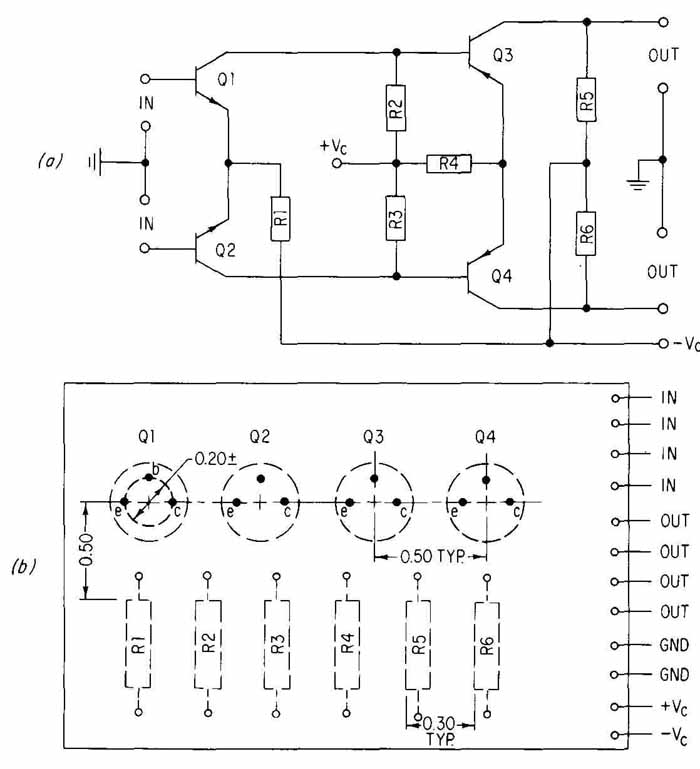 the schematic for the amplifier part of the circuit is shown below