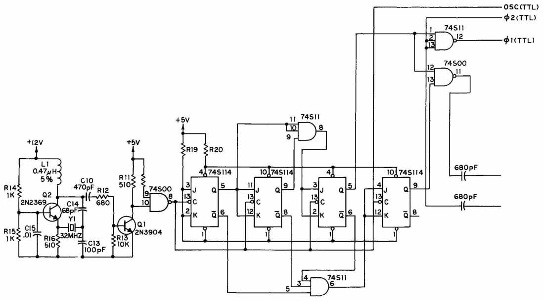 schematic diagram symbol for clock
