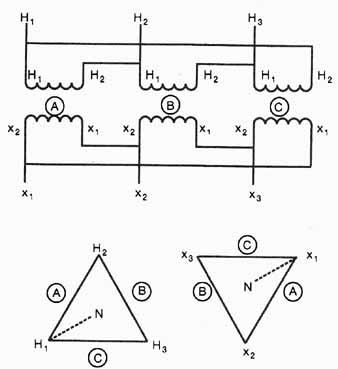 Transformer Vector Group Diagram, Transformer, Free Engine