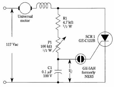 universal motor wiring diagram for home electrical scr diagrams lose power plant electronic control of commutator type machines