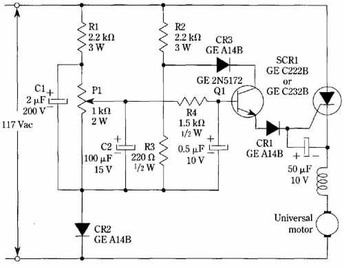 Regulated speed control of universal motors