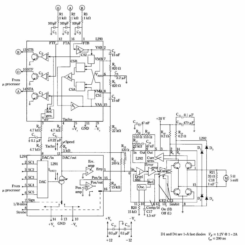 DC motor speed/position control system
