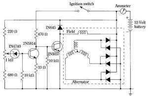 The electronic regulation of the automotive alternator