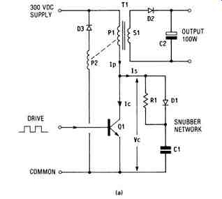Switch With Snubber Switching Power Supply With A Snubber