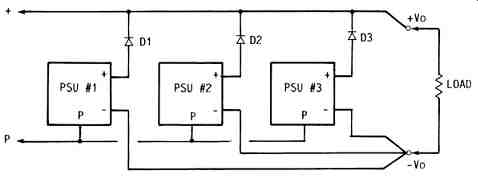 PARALLEL OPERATION OF VOLTAGE-STABILIZED POWER SUPPLIES