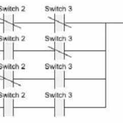 3 Way Switch Ladder Diagram Phase Wiring For Dummies Programmable Logic Controllers Part 2 22 To Controlling One Light In A Different With Three Switches