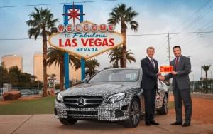 Mercedes-Benz E-Klasse: Autonom über die Highways im Bundesstaat Nevada Foto: Daimler