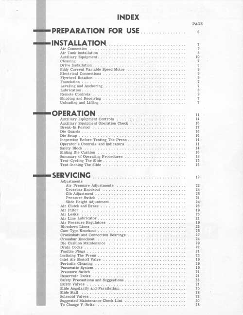 Minster G1-Series Press Operator's Manual, Industrial Library