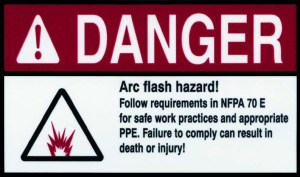 Arc Flash Safety Label