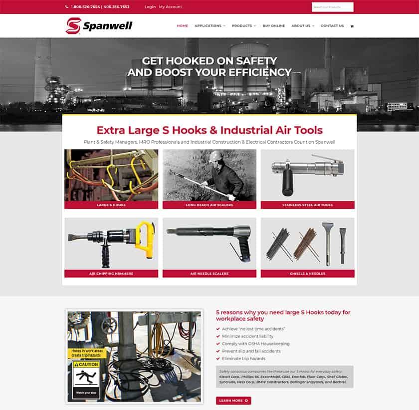 Industrial website design - Home page