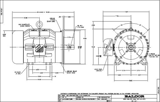 Baldor Electric CEM3661T, 3 Hp, 1800 Rpm, 182TC FR, 230