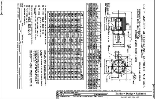 Baldor Electric CM4314T, 60 Hp, 1800 Rpm, 364T FR, 230/460