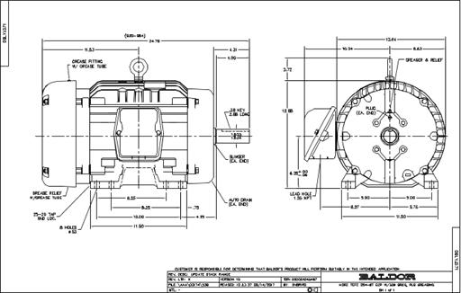 Baldor Electric ECP2333T-4, 15 Hp, 1800 Rpm, 254TC FR, 460