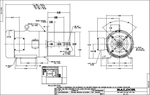 Baldor Electric EJPM3558T, 2 Hp, 1800 Rpm, 145JP FR, 230