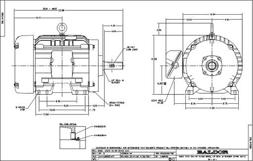 Baldor Electric FDEM4316T, 75 Hp, 1800 Rpm, 365T FR, 230
