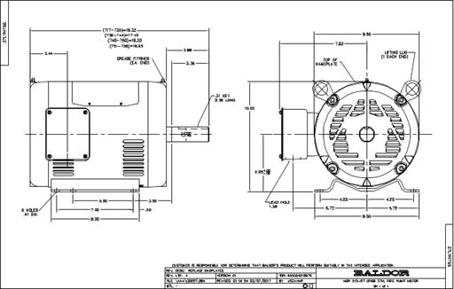 Baldor Electric FPM3313T, 10 Hp, 1800 Rpm, 215T FR, 230