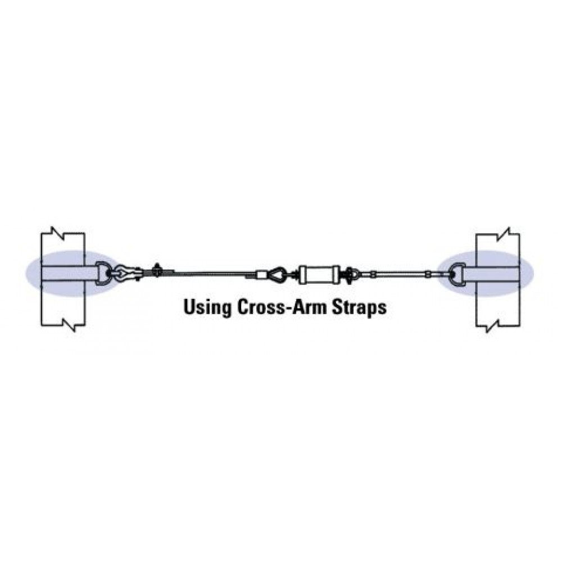 Miller SG8183-10/60FT SkyGrip 60' Wire Rope Lifeline Kit