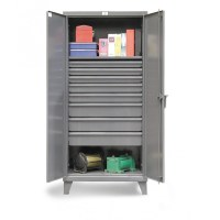 Strong Hold Floor Model Storage Cabinets with Drawers