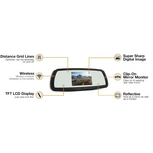 Rear View Safety RVS-091407 Wireless Backup Camera System