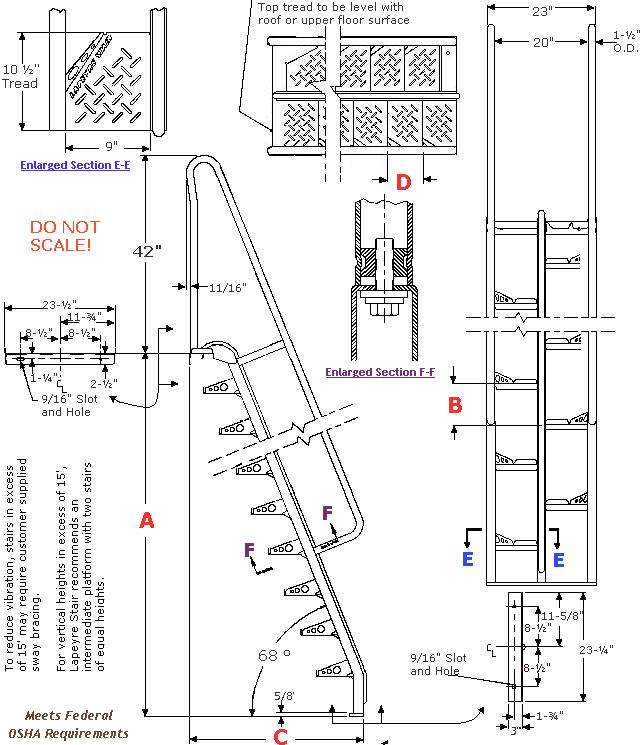Lapeyre Stainless Steel Alternating Tread Stairways
