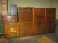 Antique Wooden Flat File Cabinet | Mail Cabinet