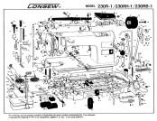 TOYOTA LS2-AD140 LS2-AD150 LS2-AD158 Sewing Machines