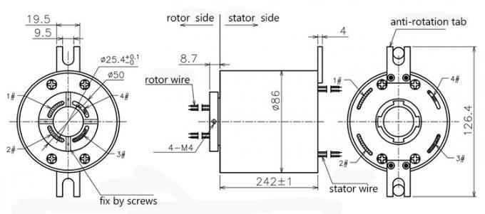 Ethernet Signal Rotary Joint Ernet Slip Ring RJ45
