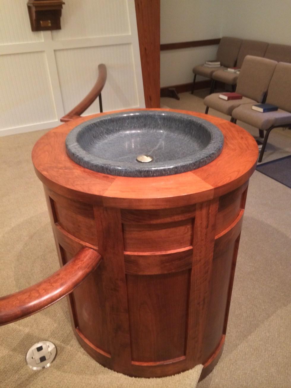 Baptismal Font installed