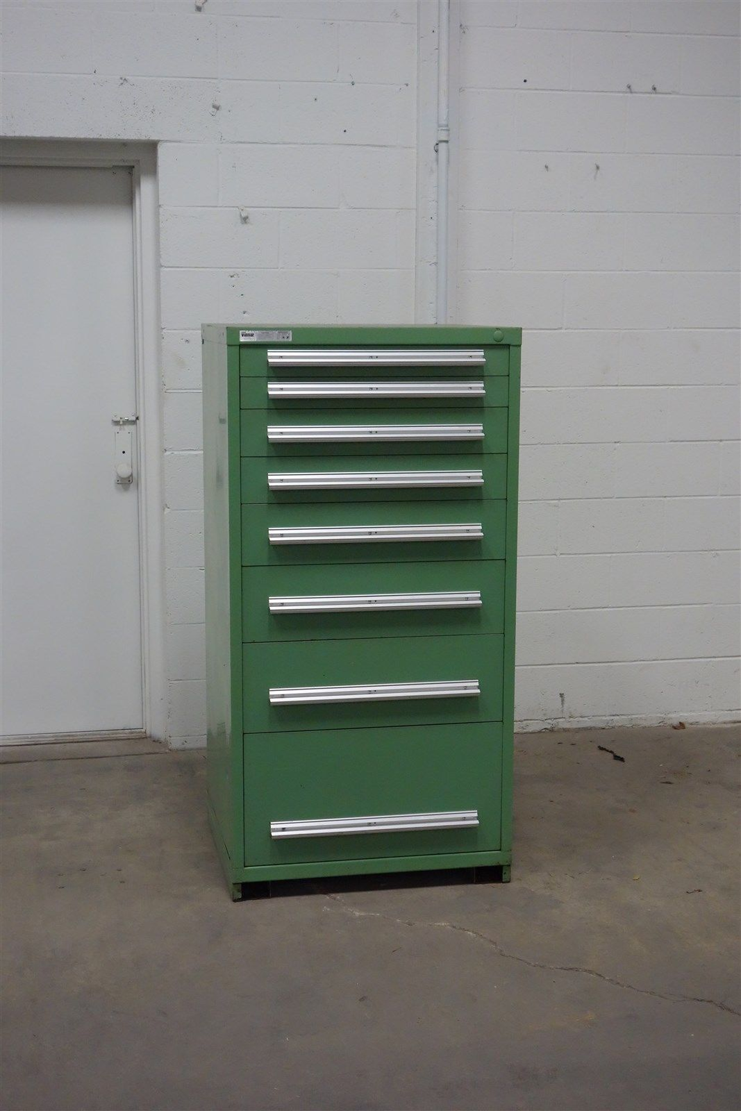 Used Stanley Vidmar 8 drawer cabinet industrial tool box