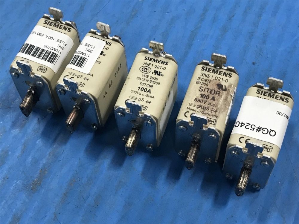 medium resolution of lot of 5 siemens 3ne1 021 0 sitor 100 amp fuse 3ne1021 0 new no box