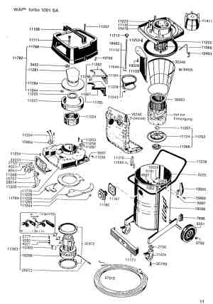 Turbo Vacuum Parts & Accessories Diagram